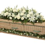 Traditional Willow Coffin with Green Bands